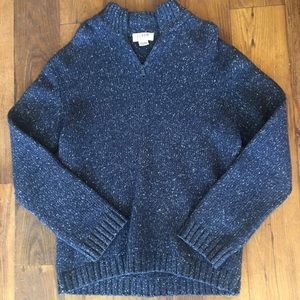 Men's J.CREW Marbled Wool Zip Neck Sweater Sz. XL